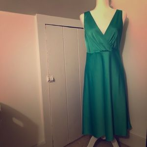 J.Crew Sophia bridesmaid dress in satin green